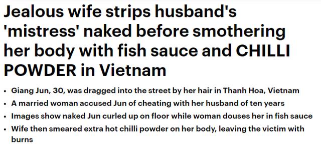 Báo Daily Mail đưa tin về vụ việc