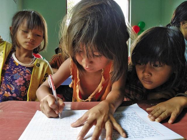 Lớp học của cô giáo Rmah H'Blao 100% học sinh là người dân tộc.