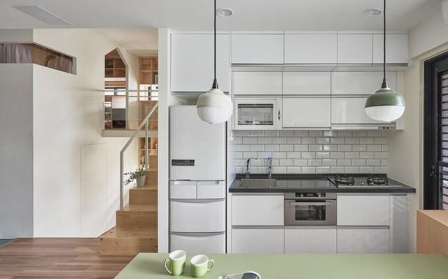 Khu bếp nhỏ hiện đại.