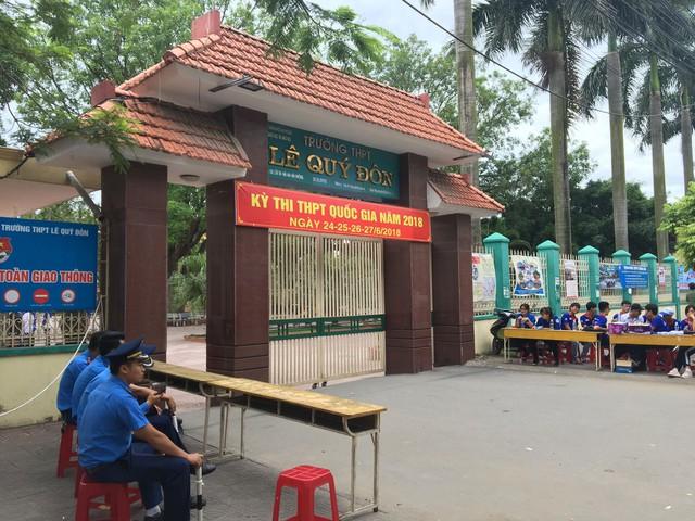 Lực lượng hỗ trợ các thí sinh trong những ngày thi nhằm đảm bảo an toàn tối đa