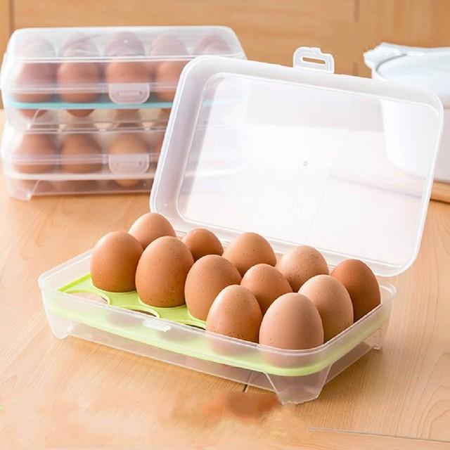 Nên sử dụng hộp đựng trứng chuyên dụng. Ảnh: Internet
