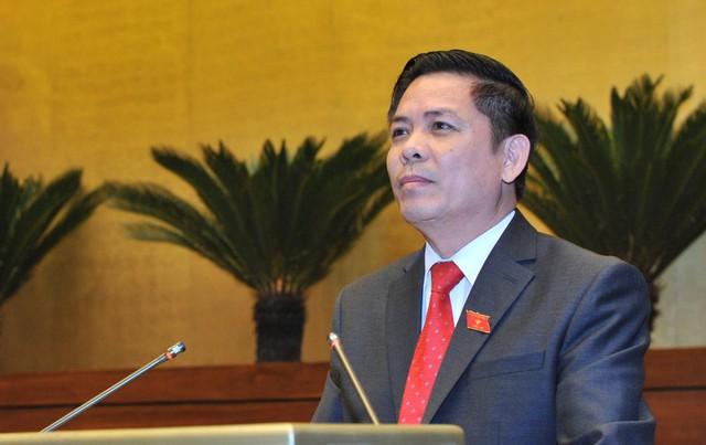 Bộ trưởng Thể thay mặt Bộ GTVT thành thật xin nhận trách nhiệm trước Đảng, nhà nước, nhân dân.