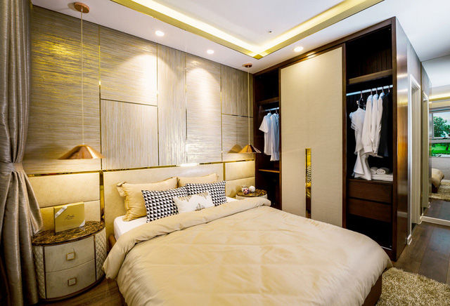 Phòng ngủ master của căn hộ có diện tích từ 94 – 95m2được bố trí sang trọng