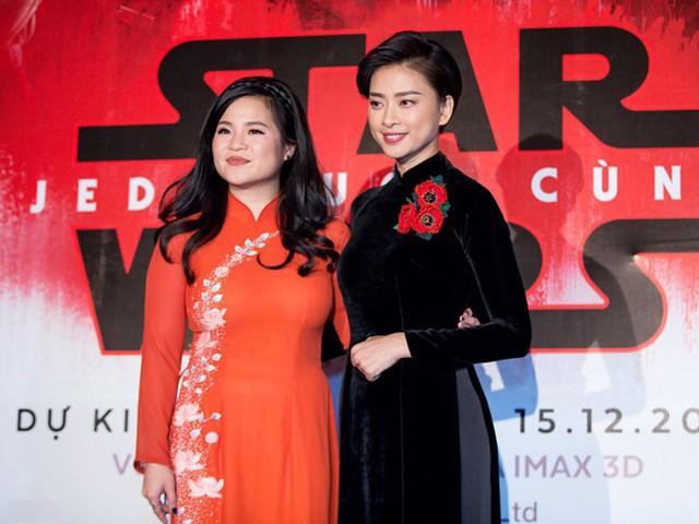 Kelly Marie Tran và Ngô Thanh Vân giới thiệu phim ở Việt Nam vào tháng 11/2017. Ảnh: Nguyễn Thành.