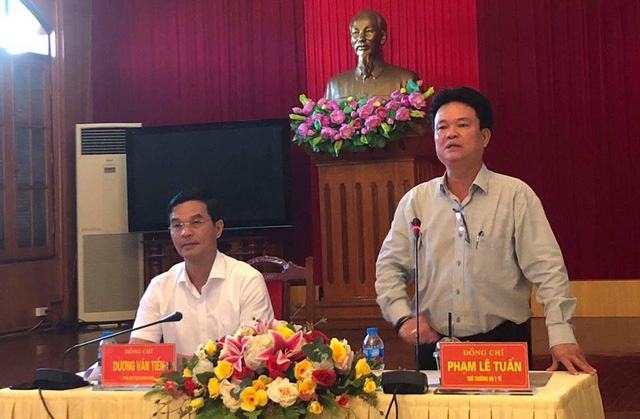 Thứ trưởng Phạm Lê Tuấn phát biểu tại cuộc làm việc với UBND tỉnh Yên Bái, ngày 6/6