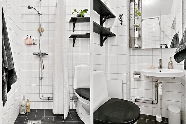 Phòng tắm tone đen - trắng hiện đại, sạch sẽ và không đơn điệu