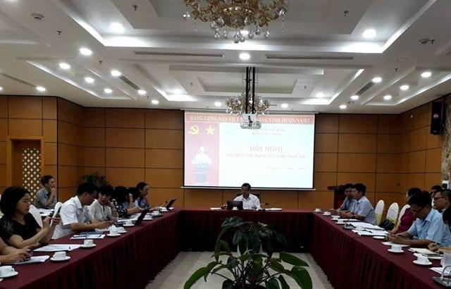 Hội nghị giao ban bao báo chí chiều nay tại tỉnh Quảng Ninh. Ảnh: Đ.Tùy