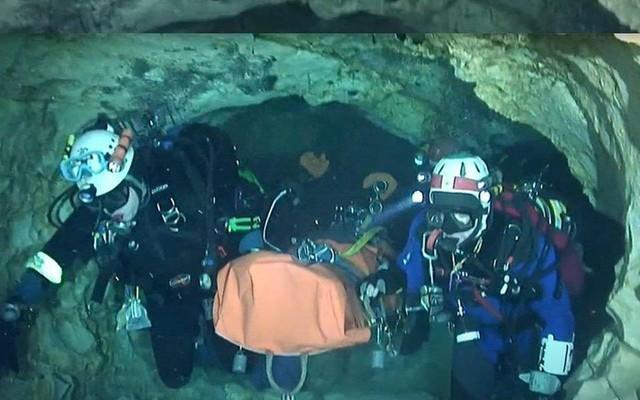 Hệ thống hang Tham Luang Nang Non có độ phức tạp đến nỗi những thợ lặn kỳ cựu cũng phải e dè. Ảnh: AP.