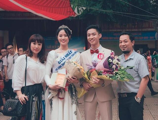 Bảo Châu giành danh hiệu Nữ sinh thanh lịch 2017 của trường Trần Phú.