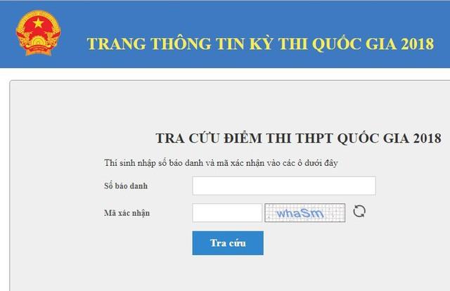 Thí sinh có thể tra cứu điểm thi THPT Quốc gia 2018 trên các website do các tỉnh, thành công bố.