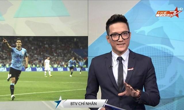 Chí Nhân làm BTV Thể thao trên sóng truyền hình. Ảnh: FBNV.