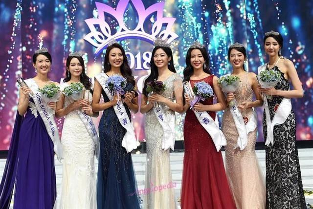 Hình ảnh Hoa hậu Kim và dàn á hậu cuộc thi Hoa hậu Hàn Quốc 2018.