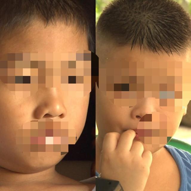 Bé Phùng Thanh H (trái) và bé Đoàn Nhật M (phải) là hai bé trai cùng ngày sinh, bị trao nhầm cho hai gia đình tại Ba Vì, Hà Nội cách đây 6 năm.