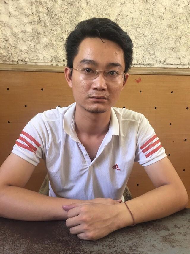 Trịnh Xuân Hải tại cơ quan công an.