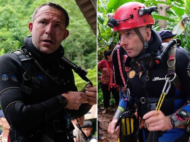 John Volanthen (trái) và Rick Stanton (phải) trong chiến dịch giải cứu đội thiếu niên Thái Lan. Ảnh: Sky News.