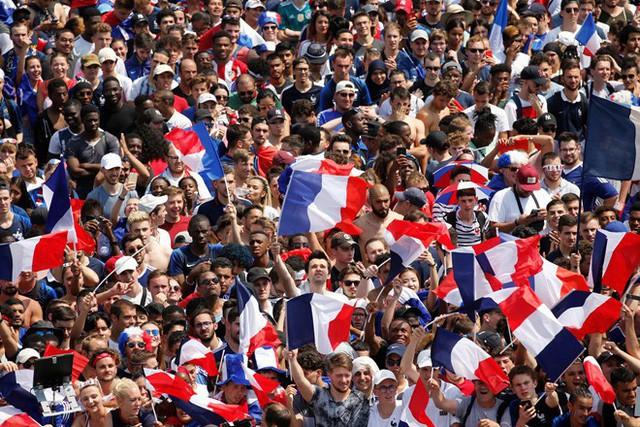 Không khí sôi động ở nước Pháp trước khi trận chung kết World Cup 2018 diễn ra