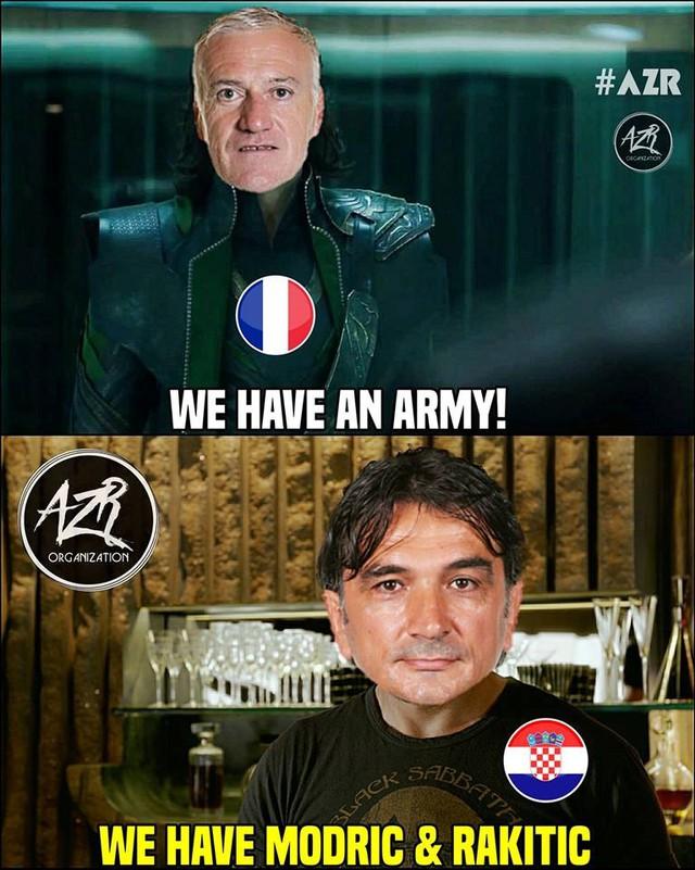Pháp có thể sở hữu đội quân hùng hậu, nhưng Crotia có hai chân sút tài năng Luka Modric và Ivan Rakitic sẵn sàng chiến đấu hết mình với ước mơ nâng cao chiếc cúp vô địch World Cup 2018. Ảnh: AZR.