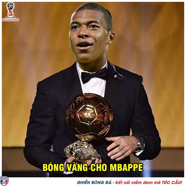 Là chủ nhân bàn thắng thứ 4, Mbappe dường như dập tắt hy vọng của các cổ động viên Croatia. Cộng đồng mạng cho rằng cầu thủ 19 tuổi này là ứng cử viên sáng giá thế chỗ Ronaldo hay Messi trong tương lai. Ảnh: Ghiền Bóng Đá.