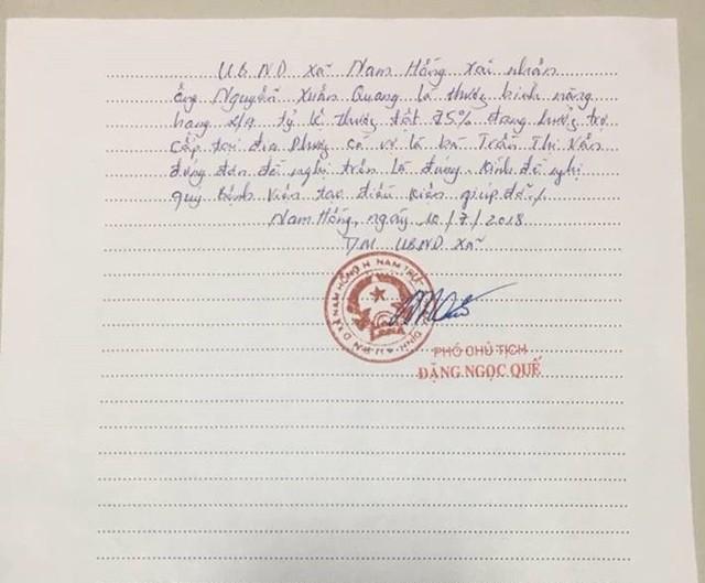 Chính quyền địa phương xác nhận hoàn cảnh khó khăn của gia đình em Nguyễn Huy Hoàng