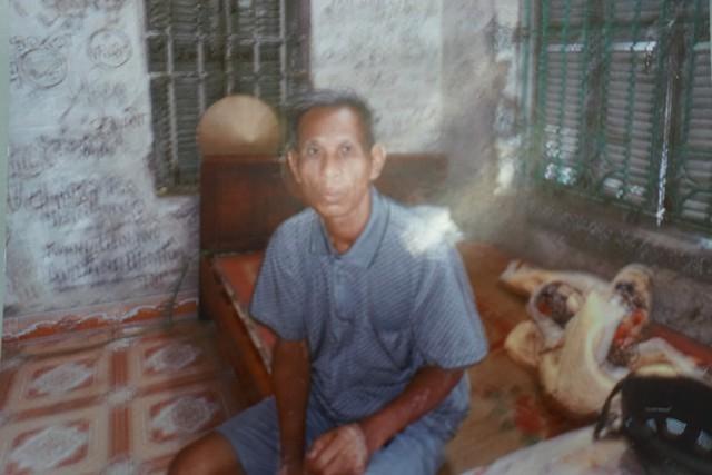 Anh Nguyễn Xuân Quang (SN 1957), bố của Hoàng là thương binh hạng 2/4 với tỷ lệ thương tật 75%. Ảnh gia đình cung cấp