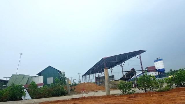 Khu trạm trộn bê tông hàng vạn mét vuông của Bê tông Phúc Thành