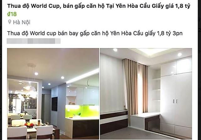 Sau World Cup 2018, rất nhiều lời quảng cáo có cánh rao bán cả nhà vì thua độ xuất hiện.