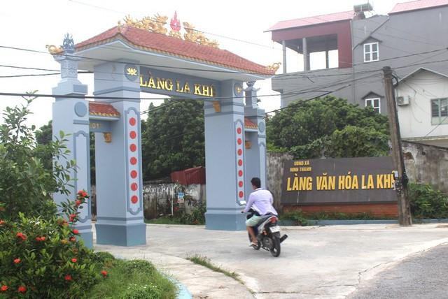 Thôn La Khê, xã Ninh Thành, nơi chị H. đang sinh sống cùng bố mẹ chồng. Ảnh: Đ.Tùy