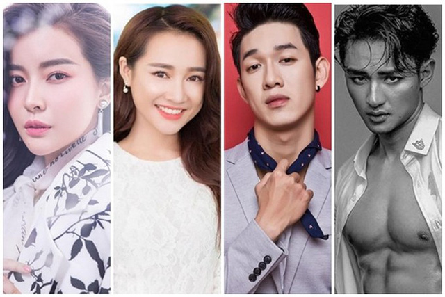 """Dàn diễn viên được cho là sẽ đóng """"Hậu duệ mặt trời"""" phiên bản Việt. Từ trái qua: Cao Thái Hà, Nhã Phương, Song Luân và Hữu Vi. Ảnh: TL"""