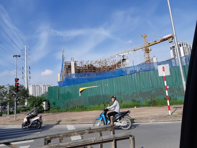 Hình ảnh cho thấy hoạt động xây dựng tại dự án này. ảnh: PV