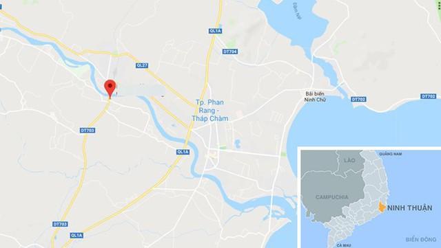 Phường Bảo An (chấm đỏ), nơi xảy ra vụ án. Ảnh: Google Maps.