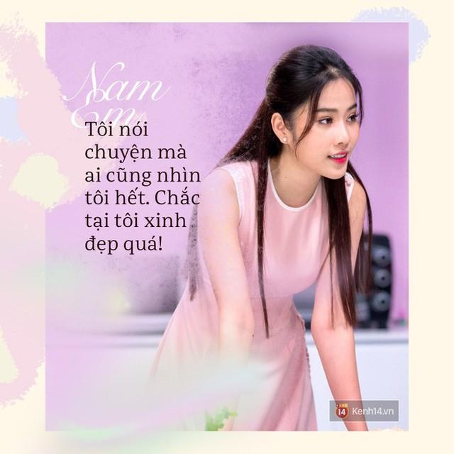 Ngay sau khi phát ngôn theo nghiệp ca hát, Nam Em tiếp tục gây chú ý bởi hàng loạt các phát ngôn gây sốc xung quanh mối quan hệ với Trường Giang và Chu Đăng Khoa.