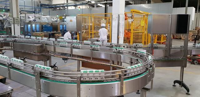 Máy móc thiết bị, dây chuyền sản xuất tại nhà máy sữa Cần Thơ