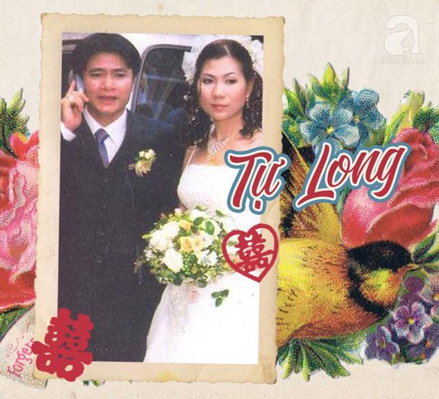 Diễn viên Tự Long và bức hình hiếm hoi với người vợ đầu trong đám cưới. Đây cũng là bức ảnh duy nhất của anh và vợ cũ bị lộ diện trước công chúng. Ảnh cưới cho thấy đôi trẻ đều là những nghệ sĩ bình thường, giản dị.