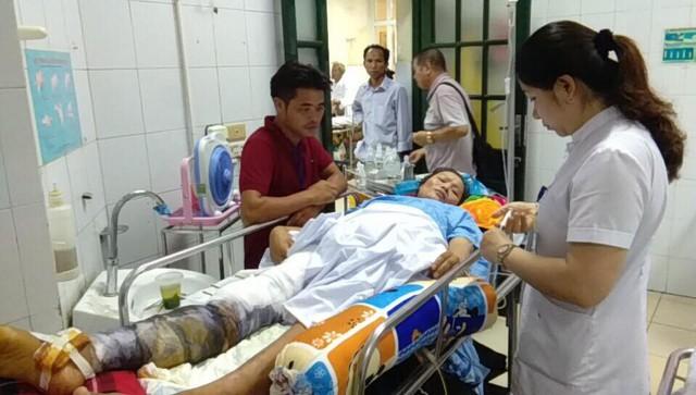 Hiện chị Thơm đang được điều trị tại Bệnh viện Việt Đức - Hà Nội. Ảnh: Ng.Đạt