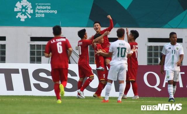 Olympic Việt Nam mở tỉ số ở phút 21.