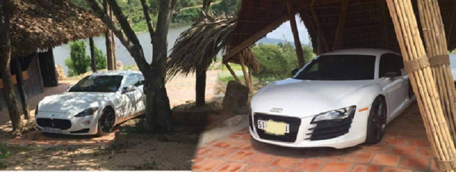 Cặp đôi Audi R8 V8 và Maserati Gran Turismo trong gara của đại gia Đặng Lê Nguyên Vũ.