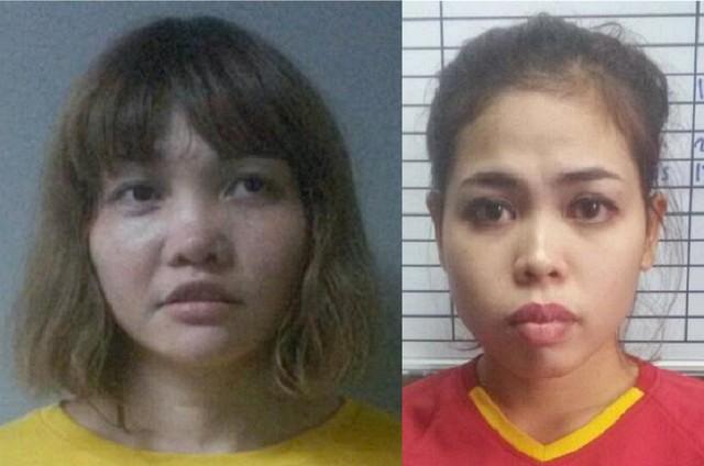 Chân dung hai bị cáo trong vụ ám sát nạn nhân nghi là Kim Jong-nam.