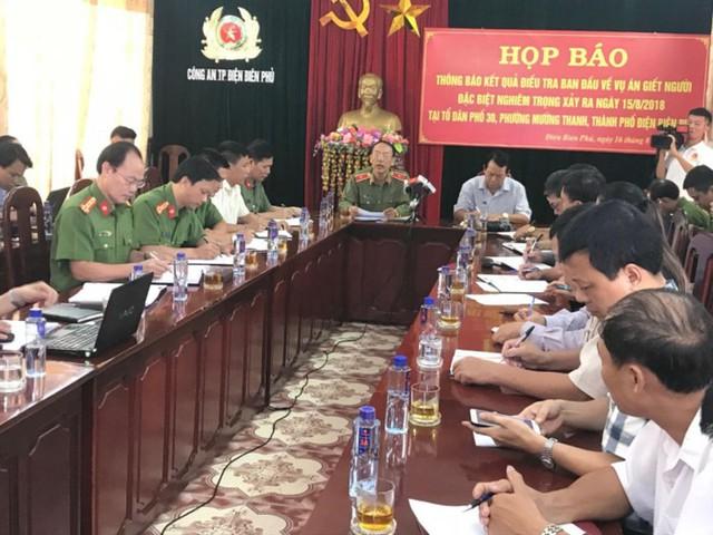 Công an tỉnh Điện Biên tổ chức họp báo, thông tin về vụ án.