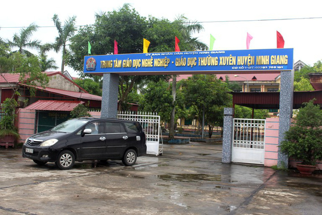 Trung tâm GDNN-GDTX huyện Ninh Giang, nơi bà P. đang được giao nhiệm vụ quản lý. Ảnh: Đ.Tùy