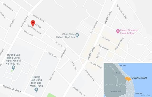 Đường Nguyễn Bình Khiên (TP Hội An), nơi xảy ra vụ việc. Ảnh: Google Maps.