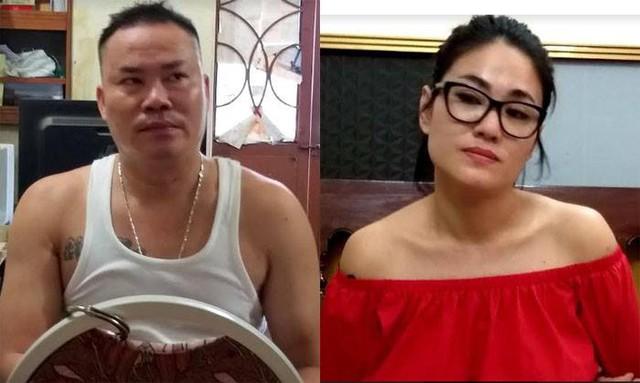 Hai đối tượng Phạm Văn Kiên và Bùi Thị Thu Trang bị tạm giữ hình sự phục vụ công tác điều tra.