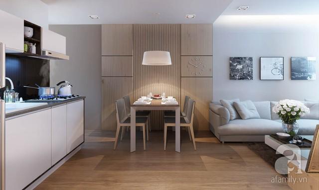 Một căn hộ nhỏ với đầy đủ công năng, ấm cúng và tinh tế.