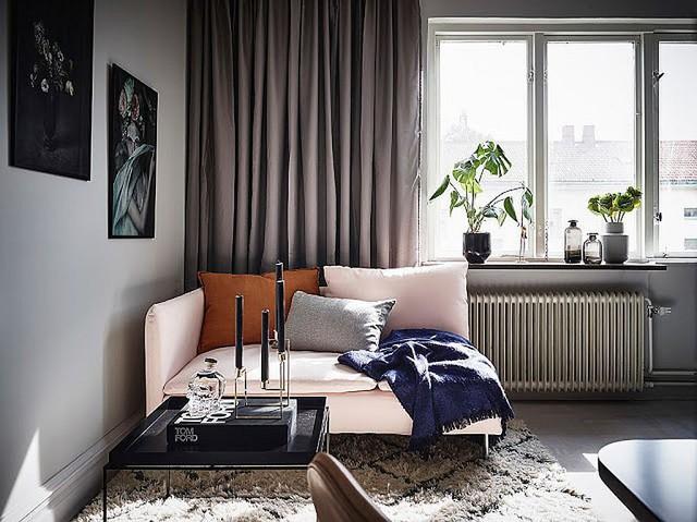 Ghế sofa nhỏ và kiểu cách cho phòng khách nhỏ bé.