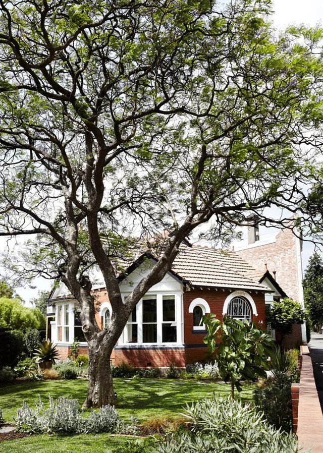 Ngôi nhà cấp 4 nhỏ xinh, đẹp bình yên bên vườn cây xanh mát. Khung cảnh nên thơ làm ai cũng muốn được một lần tận hưởng không khí trong lành nơi đây.