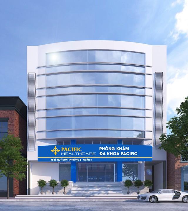 Phòng khám Đa khoa Pacific được xây dựng theo mô hình bệnh viện Đa khoa Quốc tế với thiết kế 6 tầng lầu khang trang, hiện đại chia thành các khoa – trung tâm khám và điều trị chuyên sâu riêng biệt