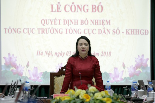 Bộ trưởng Bộ Y tế Nguyễn Thị Kim Tiến phát biểu tại Lễ Công bố.