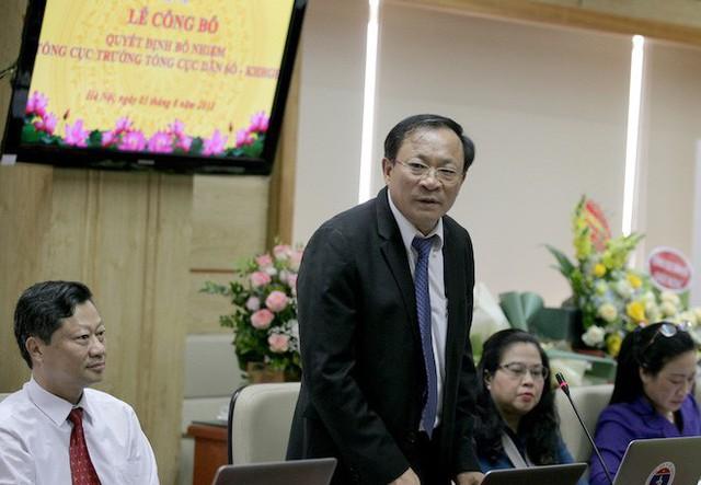 ThS Nguyễn Doãn Tú, Tân Tổng cục trưởng Tổng cục Dân số - KHHGĐ, phát biểu tại Lễ Công bố