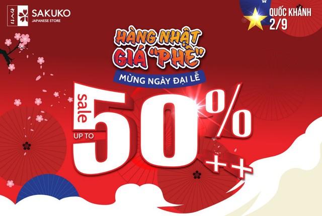 """Hàng Nhật giá """"phê"""" – mừng ngày Đại lễ với hơn 2900 sản phẩm ưu đãi lên tới 50%"""