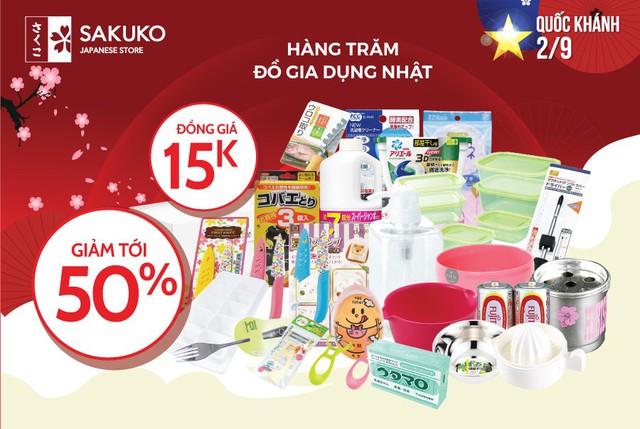 Siêu ưu đãi tới 50% và gian hàng đồng giá 15.000đ với rất nhiều đồ gia dụng Nhật tại Sakuko Japanese Store