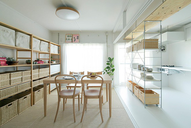 Không gian đẹp tinh tế với phong cách tối giản.